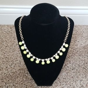 J Crew Neon Stone and Rhinestone Necklace